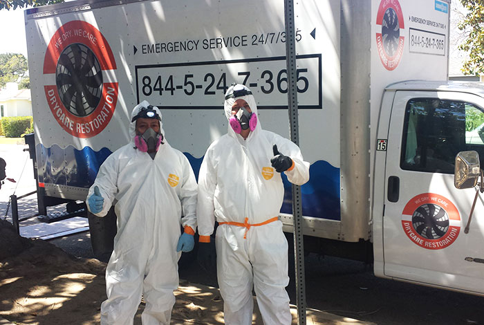 best damage restoration experts in front of DryCare Restoration truck | Best Water Fire Mold Damage Restoration and Crime Scene Cleanup, Los Angeles Ventura Orange County