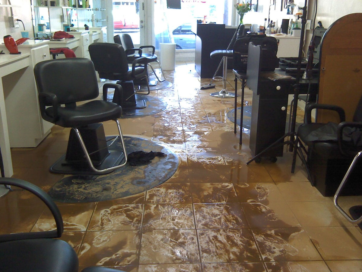 flooded hair salon business water damage | DryCare Restoration | Best Water Fire Mold Damage Restoration and Crime Scene Cleanup, Los Angeles Ventura Orange County