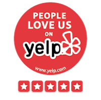 People love us on yelp 5-star rating sticker logo png | DryCare Restoration Los Angeles, Ventura, Orange County
